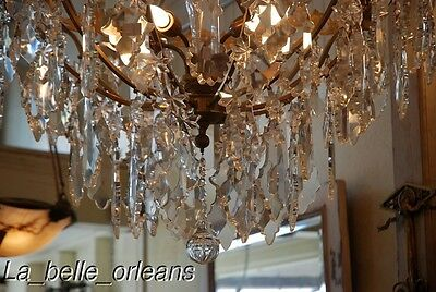 French Crystal Chandelier 15 Lights. 5 Ft Tall , Must See!! 6