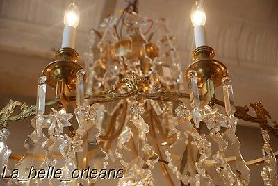 French Crystal Chandelier 15 Lights. 5 Ft Tall , Must See!! 9