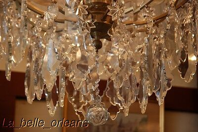 French Crystal Chandelier 15 Lights. 5 Ft Tall , Must See!! 8