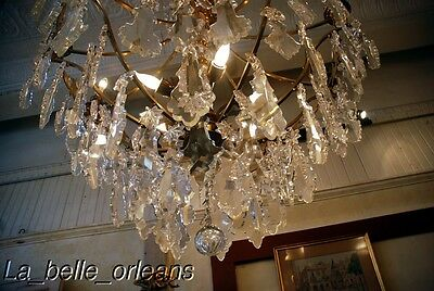 French Crystal Chandelier 15 Lights. 5 Ft Tall , Must See!! 12