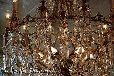 French Crystal Chandelier 15 Lights. 5 Ft Tall , Must See!! 5