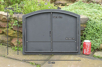 48 x 38 cm cast iron fire door clay / bread oven doors pizza stove fireplace 8