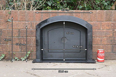 58.5 x 43 cm cast iron fire door clay bread oven doors pizza stove smoke house N