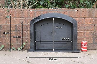 58.5 x 43 cm cast iron fire door clay bread oven doors pizza stove smoke house N 12