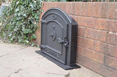 58.5 x 43 cm cast iron fire door clay bread oven doors pizza stove smoke house N 3