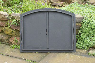 48 x 38 cm cast iron fire door clay / bread oven doors pizza stove fireplace 5