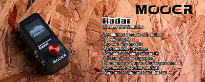 Mooer Radar Speaker Cab Simulator IR loader with Color LED Screen NEW! 3