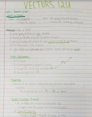 Grade 12 Calculus and Vectors Notes 2