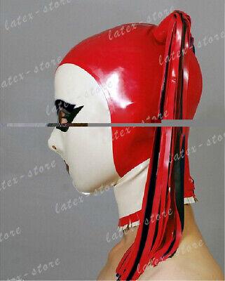 Latex Hood Rubber Gummi Red Elegant Mask Wome Fetish Wear Unique Customized .4mm 2