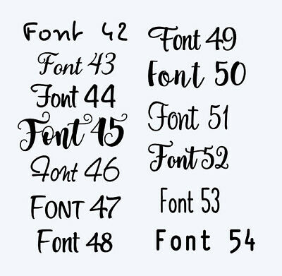 Customised Box Frame Sticker Decal 60 FONTS Quote 3 Sizes DIY  design your own 5