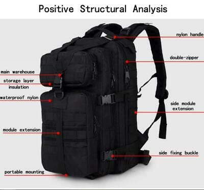 Outdoor Camping Traveling Hiking 3P Military Tactical Backpack Sport Bag 600D 3