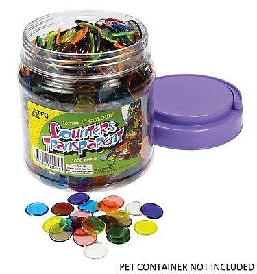 Counters Transparent 200p bag 16mm Maths Games Teacher Resources Light Box Kids 2