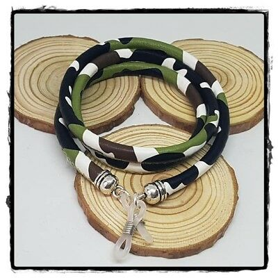 ( R-1140) Cordón Colgante Cuerda Para Gafas Étnico Redondo Tope Silicona
