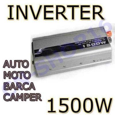 Inverter 1500W Trasformatore Di Corrente Per Barche Camper 12V 220V 2
