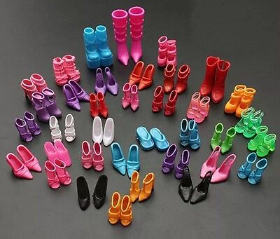 Barbie Doll Shoes Lot Of 20 New Pairs Of Assorted Shoes US Seller