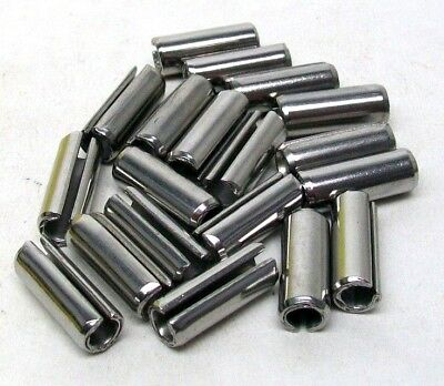 "Pack Of 19 New 3/8"" X 1"" 420 Stainless Steel Roll Pin Slotted Free Ship Nh 8"