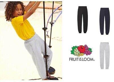 Pantalone Tuta Bambino Felpato Fruit Of The Loom Con Elastico Alle Caviglie 2