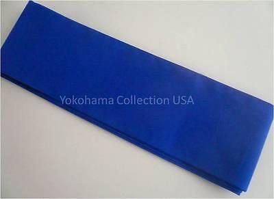 "Japanese 4/""Wx110/""L Vintage COTTON Kimono Yukata Wide Obi Belt NAVY Made in Japan"