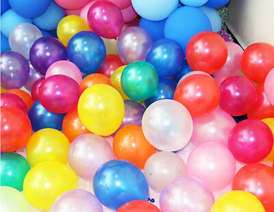 """100pcs 10/"""" colorful Pearl Latex Thickening Wedding Party Birthday Balloon RR"""