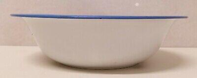 Antiguo Cuenco Emailleschüssel Decoración de Rociadura Azul Blanco Arte 20er Año 9