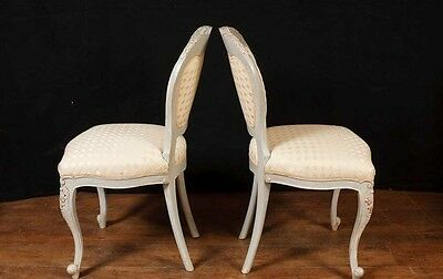 Set 8 French Provincial Painted Dining Chairs Rustic Furniture 4