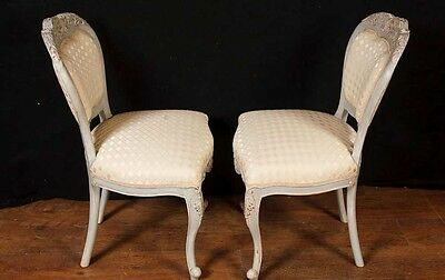 Set 8 French Provincial Painted Dining Chairs Rustic Furniture 8
