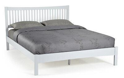 Hevea Hard Wood Bed Frame HONEY OAK Finish, OPAL WHITE, or GREY Finish Bedstead 11
