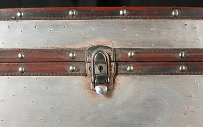 Pair Campaign Industrial Nightstands Chest Drawers Bedside Tables Luggage Trunk 6
