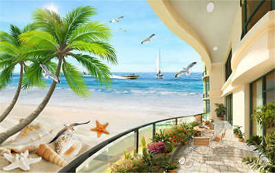 Staple Concise Beach 3D Full Wall Mural Photo Wallpaper Printing Home Kids Decor