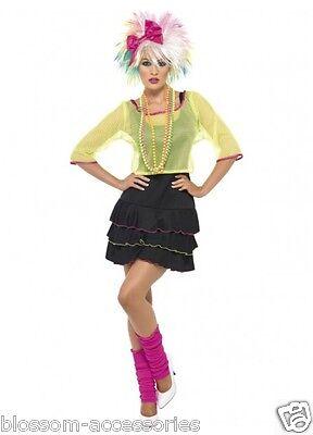 Cl224 Pop Tart 80 S Madonna Cyndi Lauper Rock Retro Neon Punk Dress Costume