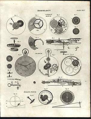 221 Horology Books On Usb - Clockwork Grandfather Clock Clocks Pocket Watch Time 6