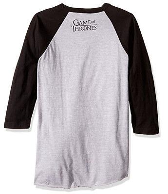Game Of Thrones STARK DIREWOLF WINTER IS COMING Raglan T-Shirt NWT Licensed 2