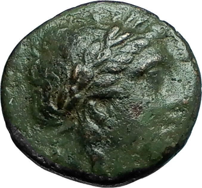 ANTIOCHOS II THEOS 261BC Ancient SELEUKID Greek Coin APOLLO TRIPOD ANCHOR i66294 2