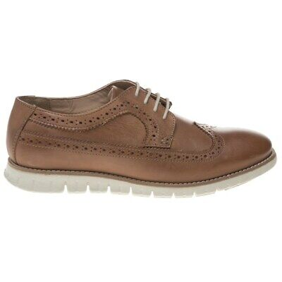 New Mens Lotus Tan Connor Leather Shoes Brogue Lace Up 2