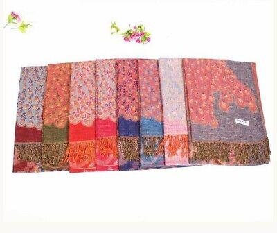 US SELLER- 20 Discount Scarves retro paisley peacock wholesale pashmina shawls 12