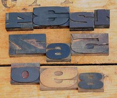 0-9 mix Zahlen 36/45mm Plakatlettern Lettern letterpress type imprimerie Ziffern 2