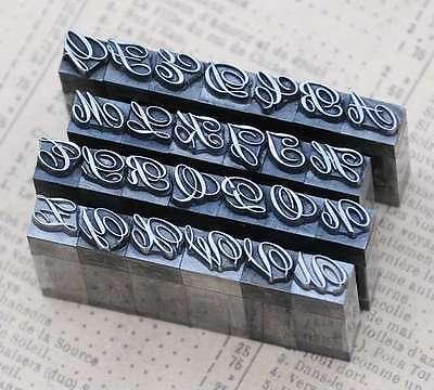 Alphabet Bleilettern Vintage Siegel Buchstaben Siegelstempel imprimerie plomb 2