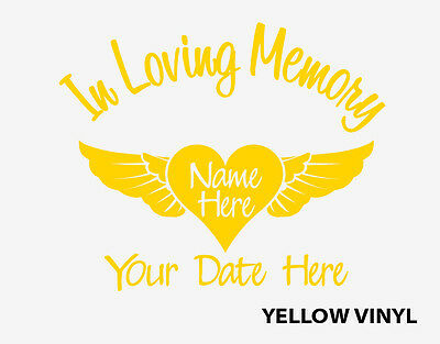 8 of 9 in loving memory of decal custom car vinyl window sticker with heart and wings