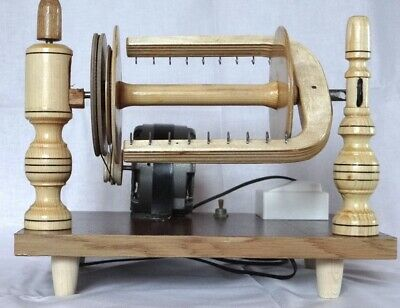New Wooden Electric Spinning Wheel Additional Coils Handmade Russia 4