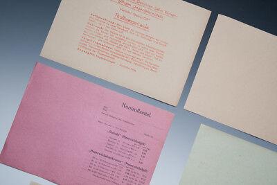 Konvolut 6 Papierteile Thema Gift aus Apotheke um 1920-1940