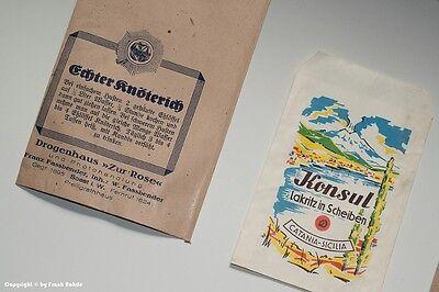 Konvolut 5 x Tüten Drogenhaus + 1 x Tüte Lakritz um 1910 - 1960 3
