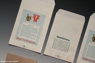 Konvolut 5 x Tüten Drogenhaus + 1 x Tüte Lakritz um 1910 - 1960 6
