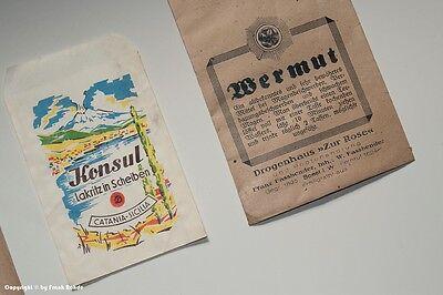 Konvolut 5 x Tüten Drogenhaus + 1 x Tüte Lakritz um 1910 - 1960 4