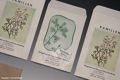 Konvolut 5 x Tüten Drogenhaus + 1 x Tüte Lakritz um 1910 - 1960 2