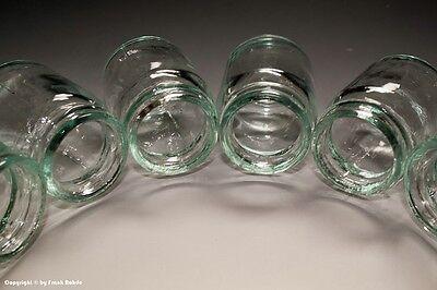 15 x kleine Gläser aus Apotheke für Cremes und Salben um 1935 8