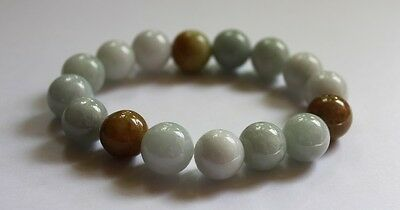 Gemstone Genuine Natural Jade (Grade A) Multi-Color Jadeite Beads Bracelet 13mm 3