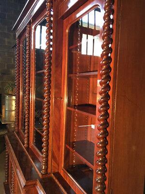 Antica ed Importante Libreria in Mogano a 4 Ante - Restaurata (in corso d'opera) 8