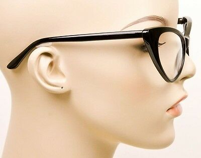 a1e269a5de6b ... SEXY Cat Eye Glossy Black Pin Up Fashion Clear Eye Glasses Hot Diva Frames  1377 4