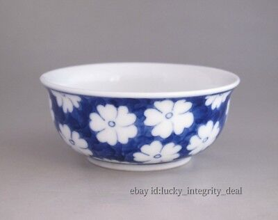 Fine Chinese Blue and white Flowers Porcelain Teacup 3