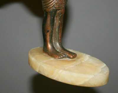 Vintage Hand Made Egyptian Pharaoh Metal Copper Plated Figurine Statuette 11